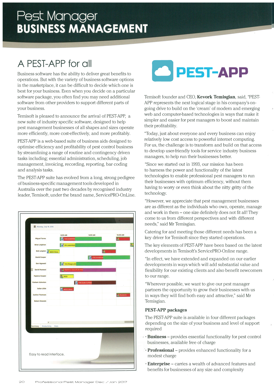 A Pest-App For all - Professional Pest Manager Article